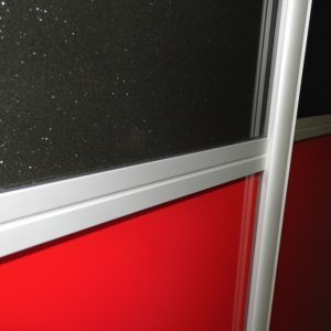 obramowanie aluminiowe indeco szpros łącznik na drzwiach, kolor anoda naturalna