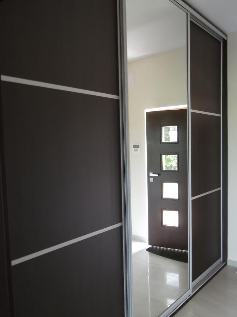 szafy wnękowe kraków z lustrem